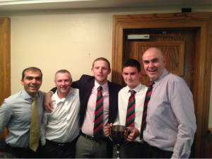 Some members of the 2nd XI on the night Saeed Shah Matt Lunson Mike Godwin Adam Chester Chris Cavanagh