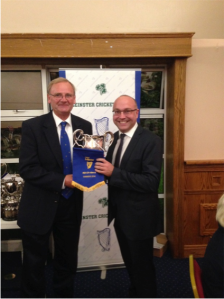 Graham Morris collecting the Division 6 trophy