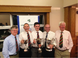 From Left President Michael Brown, John Anders, Adam Chester, Graham Morris  and Chair of Cricket David Ensor.